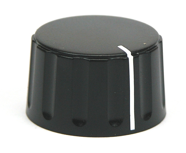 Push-On knob ø28,5x17,1 - 6mm shaft - with lne